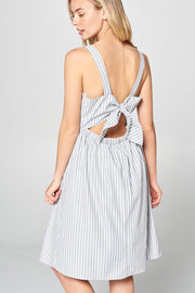 SLEEVELESS DRESS WITH BACK TIE