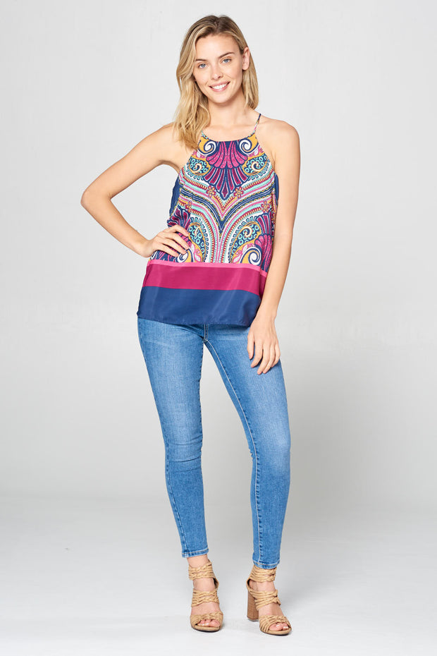 RACER BACK PRINT TOP