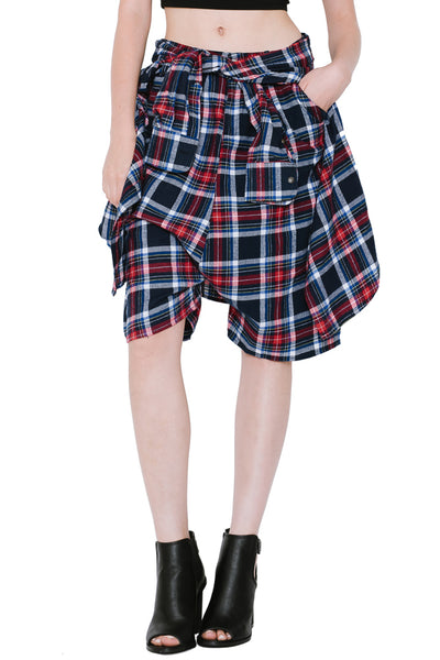 PLAID SHORT PANTS