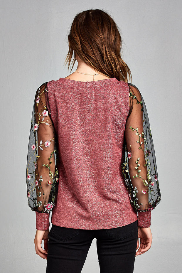 SPARKLING LONG SLEEVE TOP