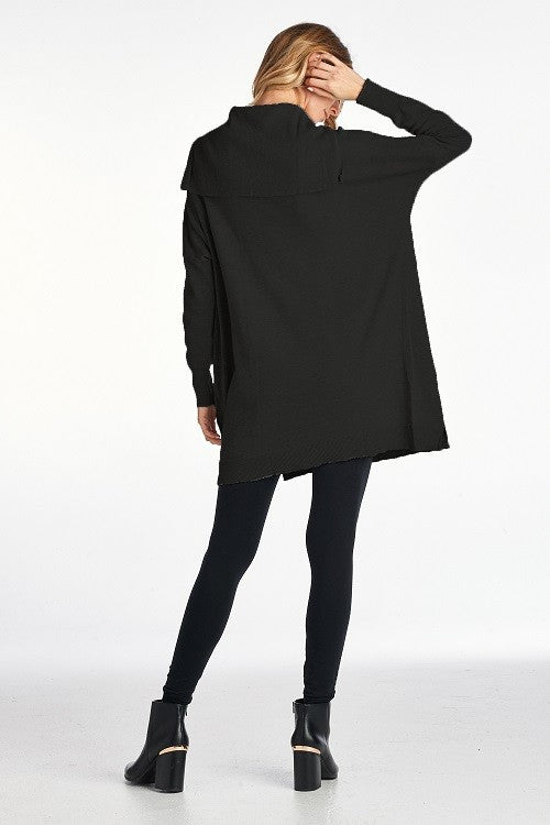 OVERSIZE TUNIC SWEATER WITH ZIPPER DETAIL