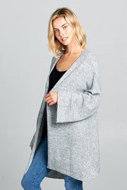 SOLID SOFT OVERSIZE SWEATER CARDIGAN