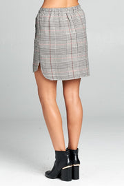 CHECKERED SKIRT WITH TIE DETAIL