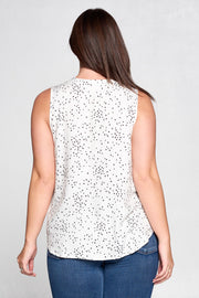 SLEEVELESS STAR PRINT TOP