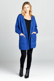 LONG SLEEVE THICK KNIT CARDIGAN