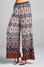 HIGH WAIST PALAZZO PANTS WITH ELASTIC WAIST