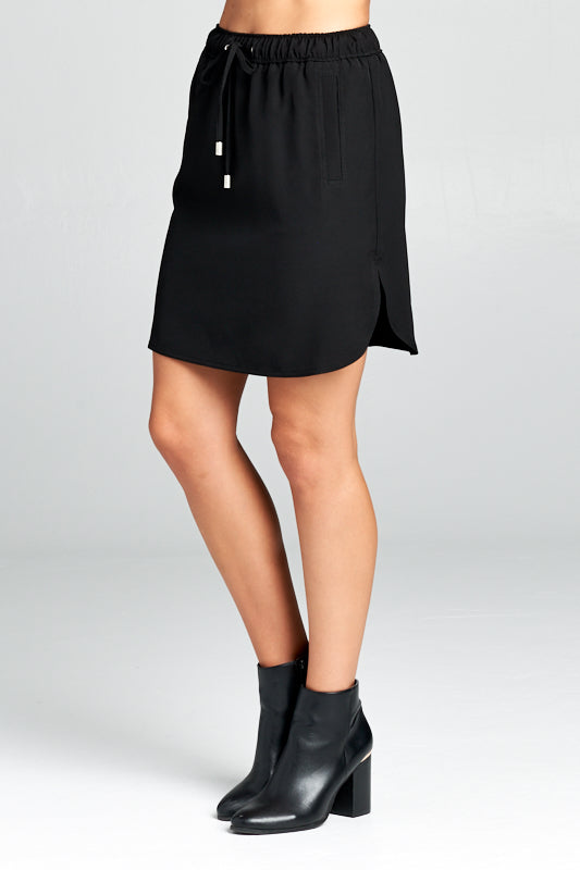MINI SKIRT WITH ELASTIC WAIST TIE