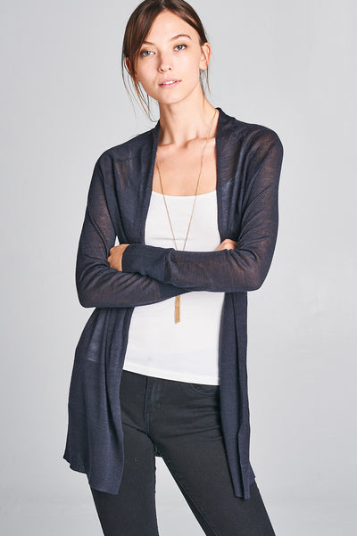 LONG SLEEVE THIN CARDIGAN