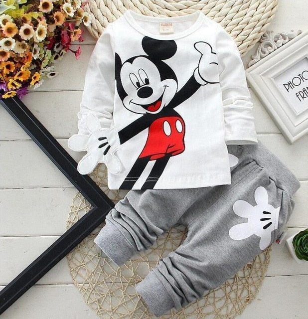 Mickey Baby Boy Clothes Newborn Baby Clothing Bebes Active Minnie Kids Clothing Children's Outfits Disney Series Kids Costume
