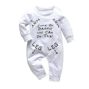 2020 New Fashion Baby Boys Girls Clothes Newborn Blue and Red Long Sleeve Cartoon Printing Jumpsuit Infant Clothing Set