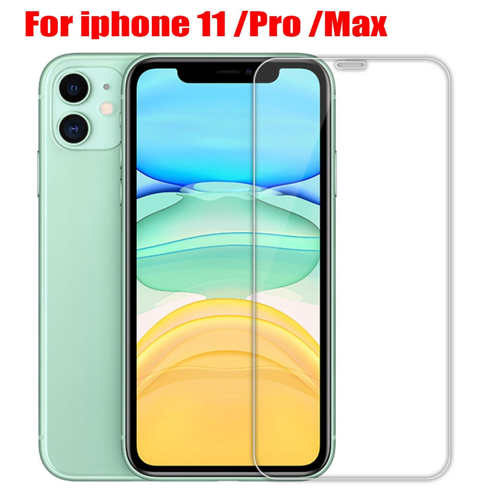 protective glass on iPhone X XS 11 Pro Max XR 7 8 6s Plus screen protector Protection Tempered glass For iphone 11 Pro Max glass