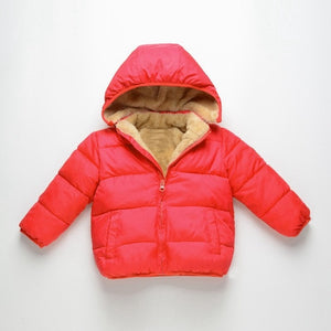 COOTELILI Fleece Winter Parkas Kids Jackets For Girls Boys Warm Thick Velvet Children's Coat Baby Outerwear Infant Overcoat