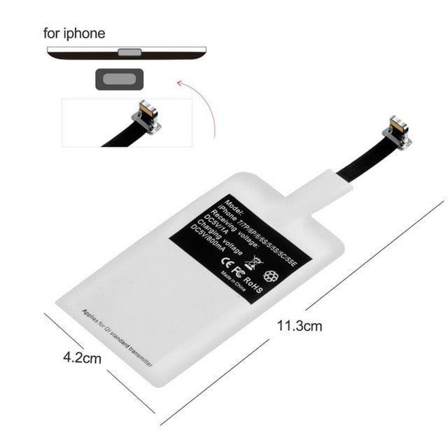 Olaf QI Wireless Charger For iPhone XS Max XR Phone LED USB Wireless Charger Fast Charging For Samsung Galaxy S8 S9 Plus adapter