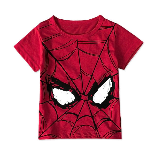 Children  Boys T Shirts Short Sleeve Children Girls Print T Shirts Cotton Kids Popular Hero Spiderman Superman Tops Tee