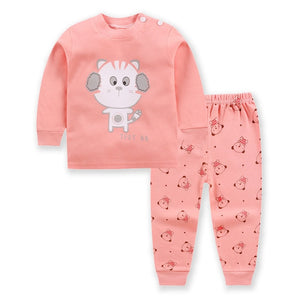 Baby Clothes Cotton Boys and Girls Baby Underwear Set Children's Autumn Clothes Long Pants Home Children's newborn clothes