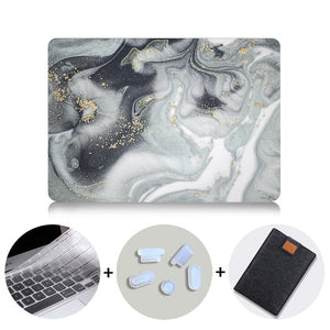 MTT Laptop Case For Macbook Air Pro Retina 11 12 13 15 16 Marble Hard Cover for mac book 13.3 inch With Touch Bar a1706 a1502