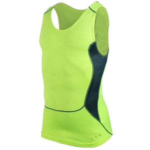 S-XXL Mens Running Vest Gym Sleeveless Shirt Fitness  Sports Tight compression T-shirts gym high quality sports Vest