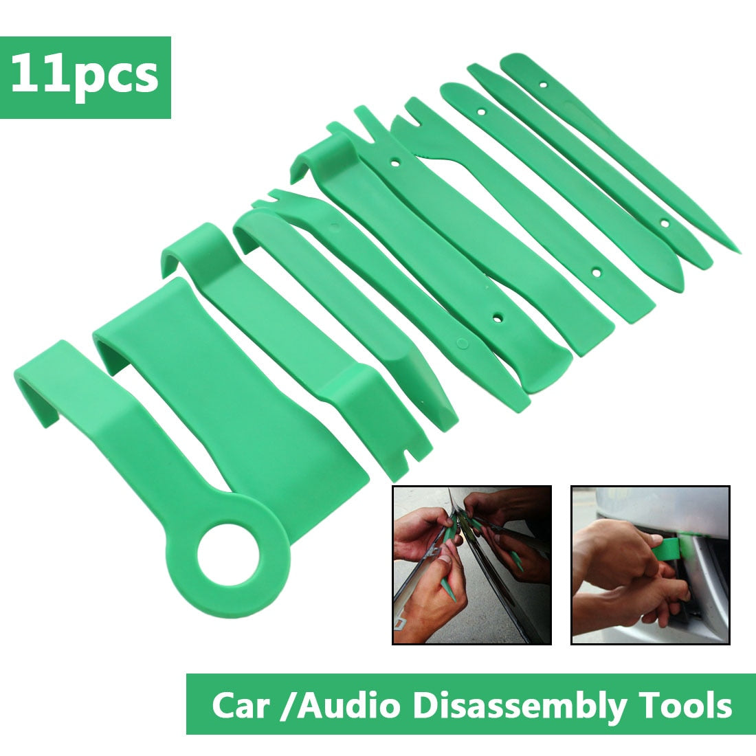 Dashboard Removal Opening Tool Set 11Pcs Auto Car Radio Panel Interior Door Clip Panel Pry Tool Trim DIY Car Repair Tool Kit