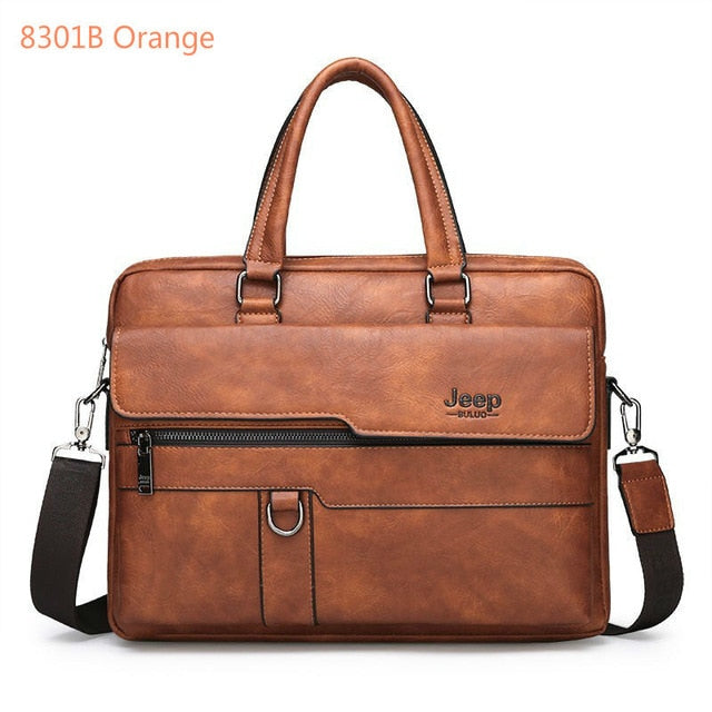 New Men Briefcase Bags Business Leather Bag Shoulder Messenger Bags Work Handbag 14 Inch Laptop Bag Bolso Hombre Bolsa Masculina