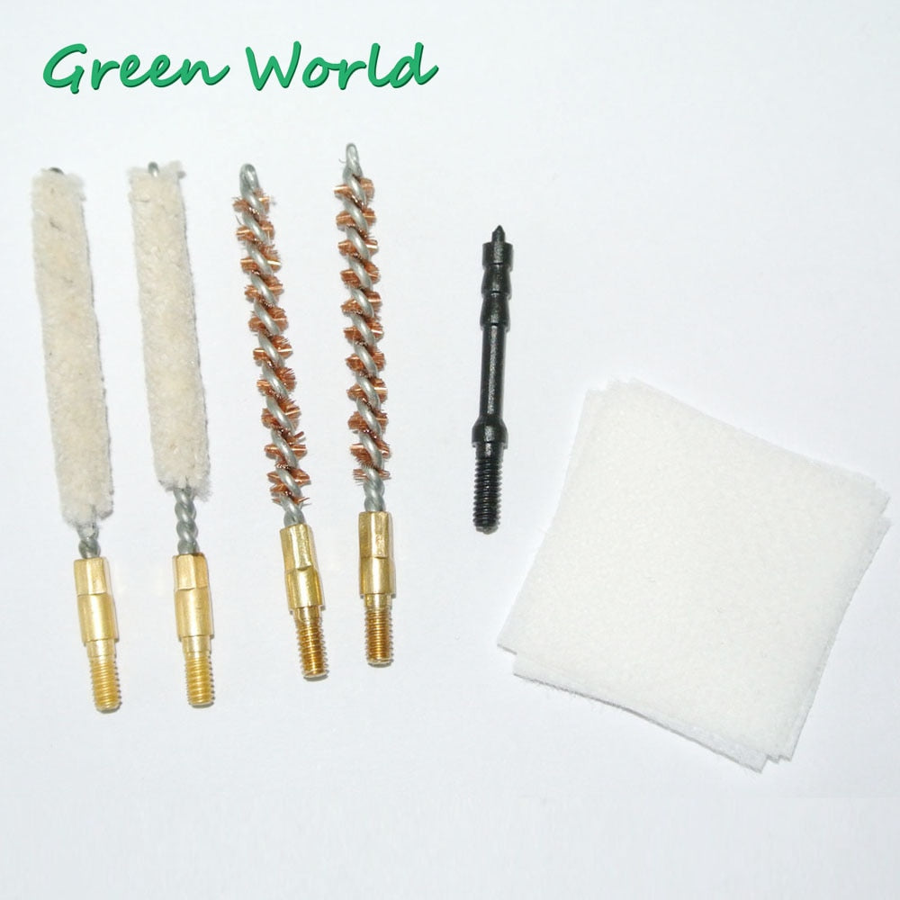 Green World 55pcs/lot .17cal Gun Clean Brush Kit , Gun Clean Tool Set,Thread 5-40