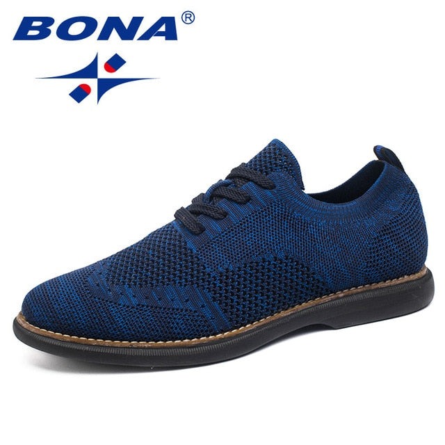 BONA New Fashion Style Men Casual Shoes