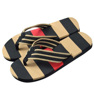 Hot Selling Fashion Men Summer Stripe Flip Flops Shoes