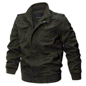 Spring Autumn Cotton Pilot Jacket Coat Army Men's Bomber Jackets Cargo Flight Jacket Male 6XL