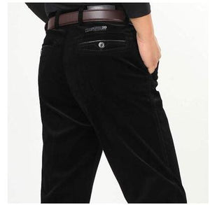 Corduroy pants loose middle-aged joggers middle-aged men dad installed in autumn and winter 2017 men's casual pants corduroy