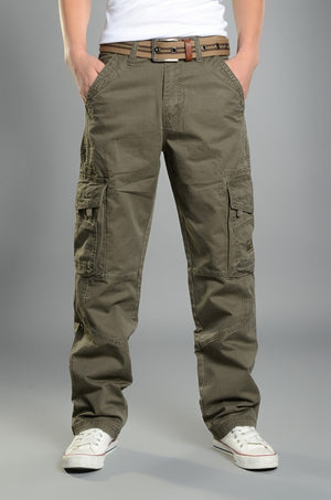 Mens Cargo Pants Casual Mens Pant  Baggy Regular Cotton Trousers Male Combat  Military