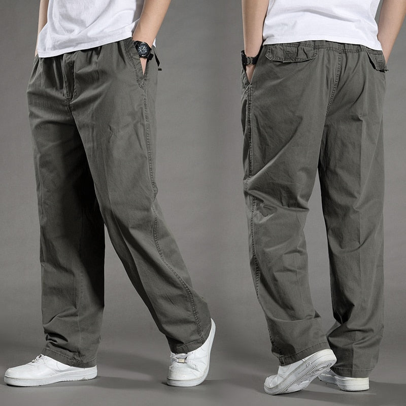 2019 summer Sagging cotton pants men Trousers plus size sporting Pant