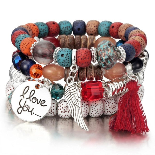 3-4pcs/set Fashion High Quality Boho Bracelets & Bangles Women Beaded Bracelet