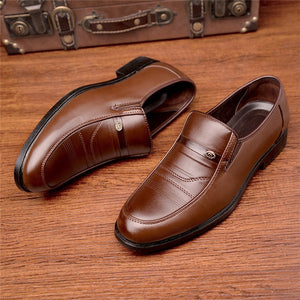 New Arrival Men Leather Slip On Shoes Round Toe Summer Footwear