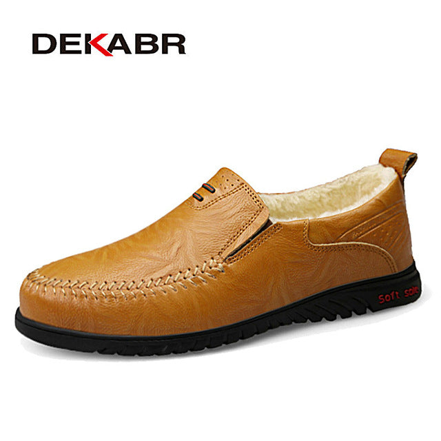 DEKABR Men Shoes Genuine leather Comfortable Men Casual Shoes
