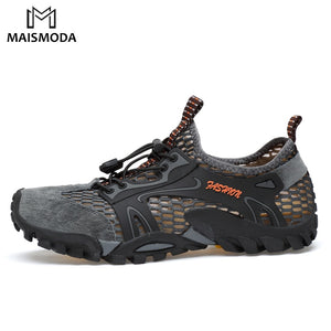 MAISMODA Men Outdoor Sneakers Breathable Hiking Shoes Men Women Outdoor Hiking Sandals Trekking Trail Water Shoes 38-45 YL299