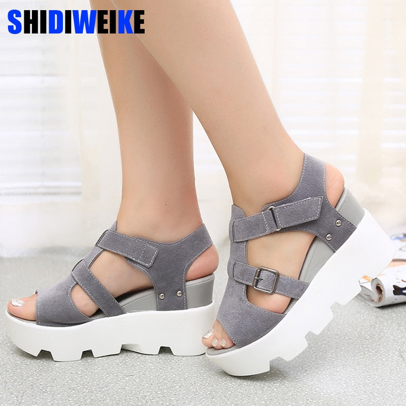2019 Summer Sandals Shoes Women High Heel Casual Shoes