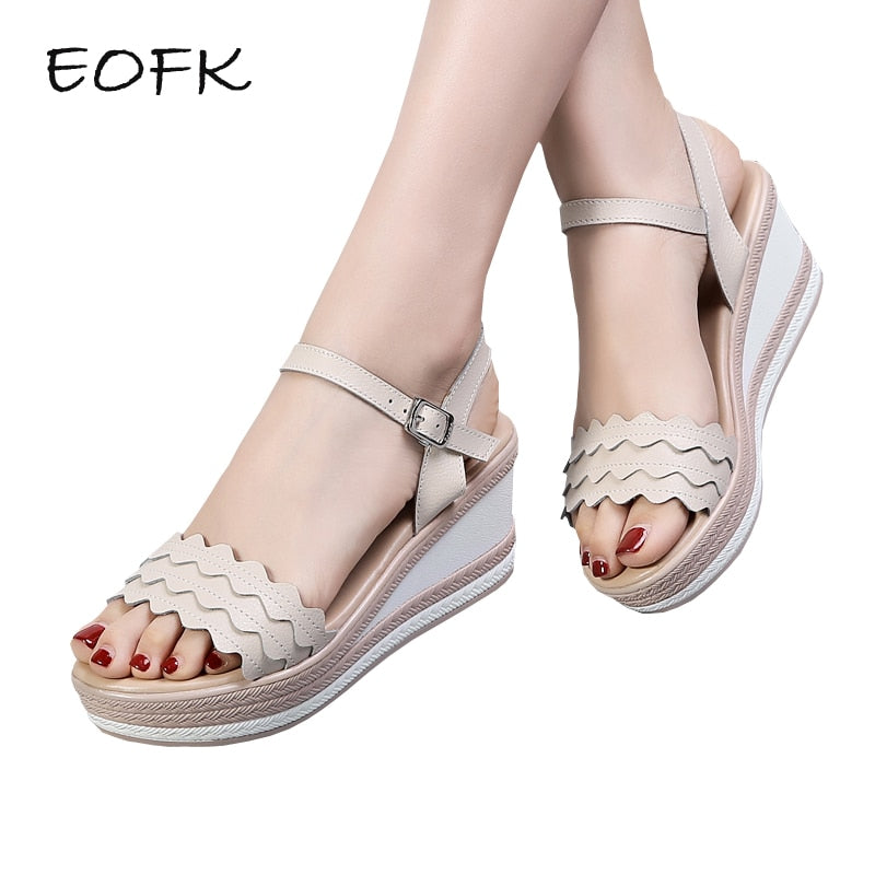 EOFK 2019 New Summer Women Sandals Wedges Shoes