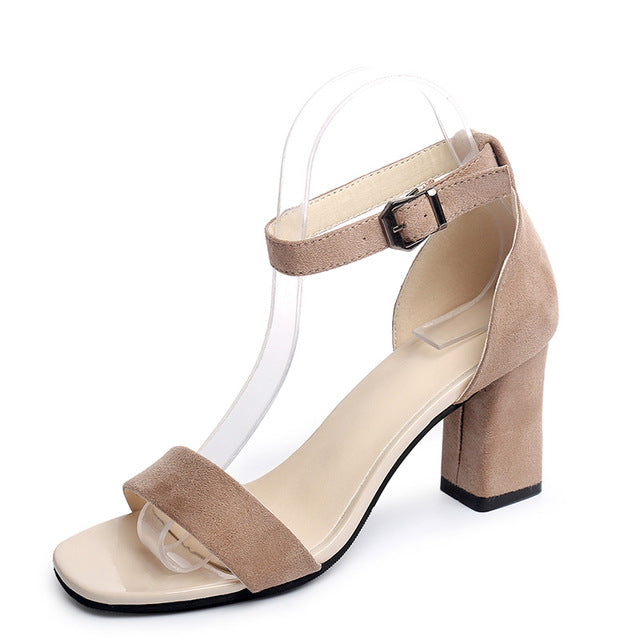 2019 Ankle Strap Heels Women Sandals Summer Shoes Women Open Toe Chunky High Heels