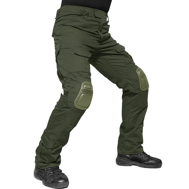 TACVASEN 2019 Men Military Pants With Knee Pads Men's Tactical Cargo Pants Army Green Soldier Pants