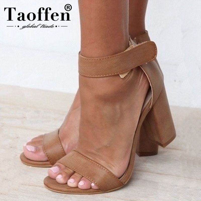 TAOFFEN New 2019 Spring Women Simple Sexy Sandals High Heels