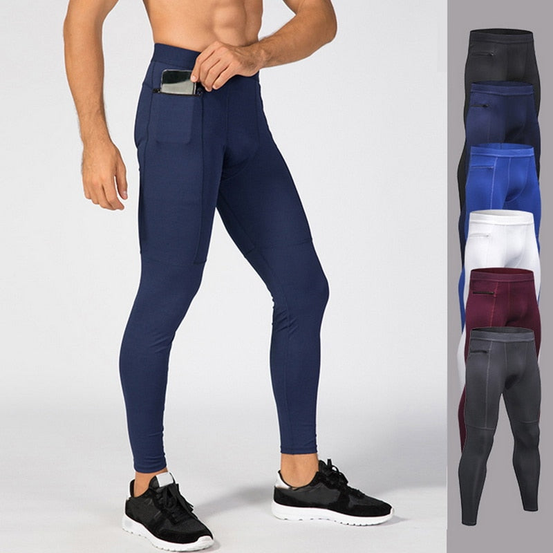 2019 New Men Zipper Pocket Sport Pants Quick Dry Men's Running Pant