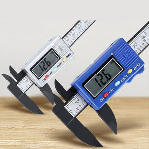 0mm-100mm LCD Digital Electronic Carbon Fiber Vernier Caliper Gauge Micrometer Hand Tools Measuring Accessories#h