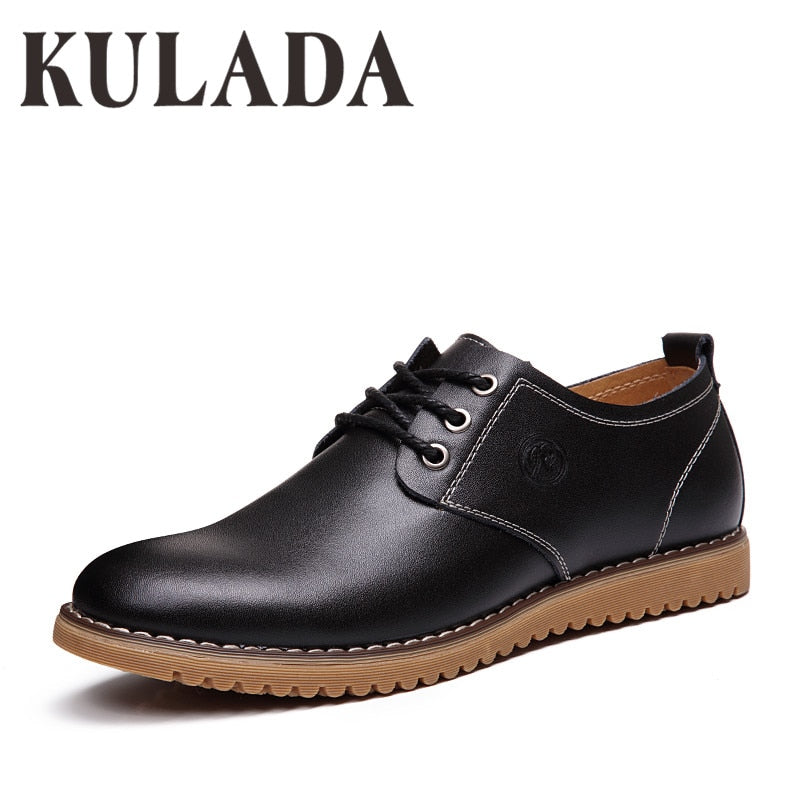 Men's Shoes Casual Spring Leather Shoes Soft Fashion Walking High Quality Comfortable Men Breathable Shoes