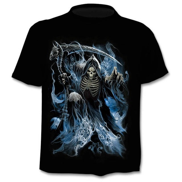 Summer NewFunny skull 3d T Shirt Men/Women