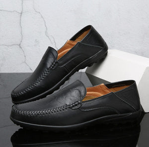 Summer Men Shoes Casual Luxury Brand 2019 Genuine Leather