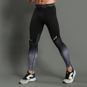 Mens Running Compression Pants Tight Skinny Sports Leggings Fitness Sportswear Trousers Training Pants Skinny Leggins Homme