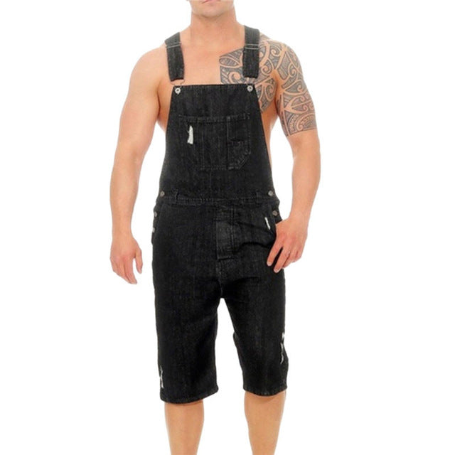 Fashion Men's Overall Casual Jumpsuit Jeans