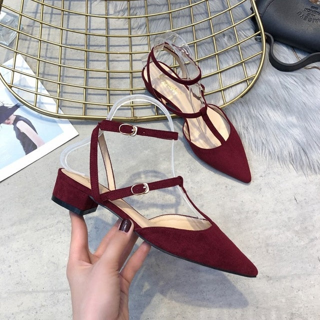 2019 new arrival women sandals fashion pointed toe summer shoes