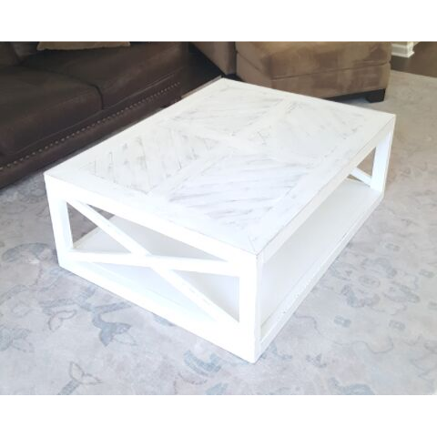 chevron white coffee table ottoman