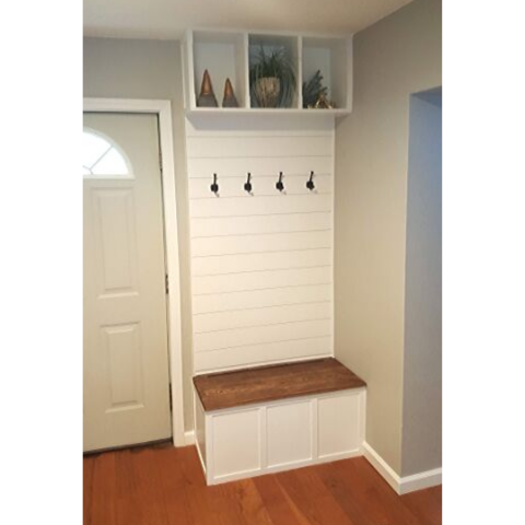 hall tree storage bench built-in
