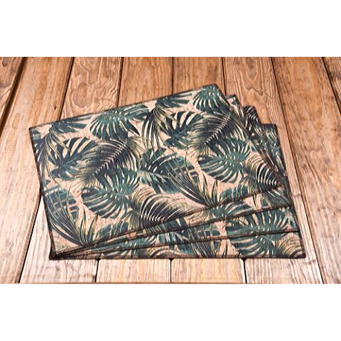 palm breeze cork fabric placemats